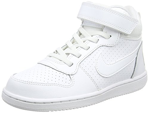 Baskets Baskets Baskets On Blanc Borough psv Court Mid white white white white Gar Hautes Nike TRUwI