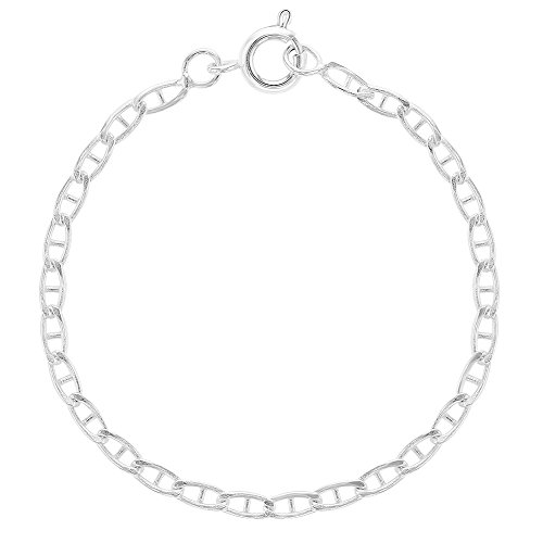 Silver Plated Chain Childrens Bracelet