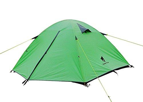 GEERTOP Kuppelzelt Campingzelt Trekkingzelt Familienzelt Wasserdichtes - 180 x 210 x 120 cm (2,5kg) - 3 person 3 Jahreszeiten Ideal für Camping Wandern Reisen (Grün)