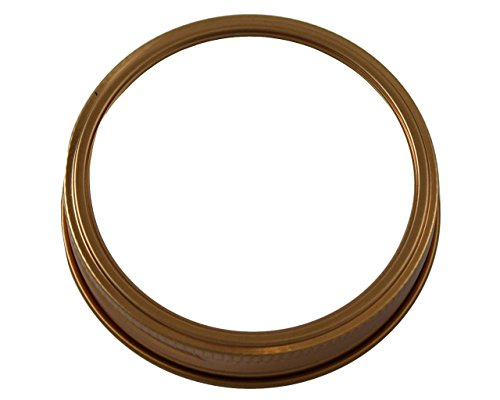Copper Bands / Rings for Mason, Ball, Canning Jars (10 Pack, Wide Mouth)