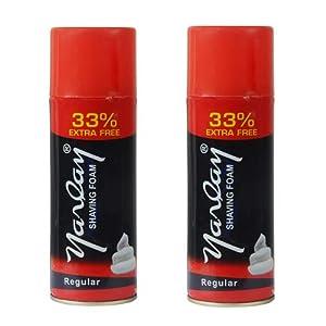 Yarlay Regular Shaving Foam, 400ml Each (33% Extra), Combo (Pack of 2)