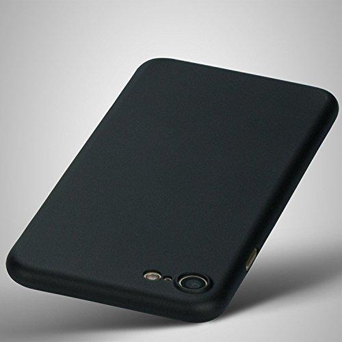 cTRON21 iPhone 7 Hülle Ultra Slim Hard Case 0,3 mm Schutzhülle Handyhülle Schwarz