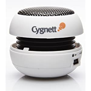 Cygnett GrooveBassball Mini Bassball Speaker for iPod and MP3 Players (White)