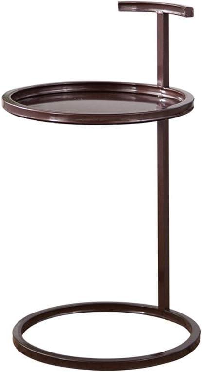 Betaalbaar GYH salontafels bijzettafel, ijzer klein appartement woonkamer ronde bank koffietafel, geschikt voor zakelijke kantoor gang (5 kleuren) (kleur: wit) BRON KzEAL8J