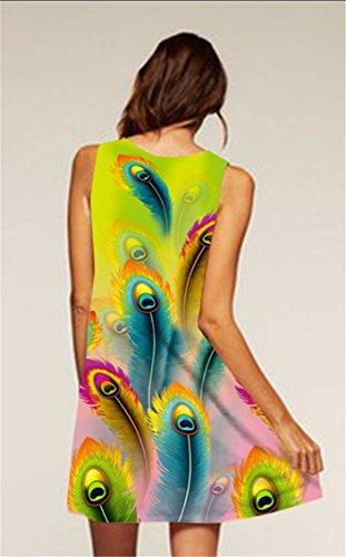 Chiffon Sexy Fashion Dresses Sleeveless 1 Halter Printed Jaycargogo Women Floral xO7qIn