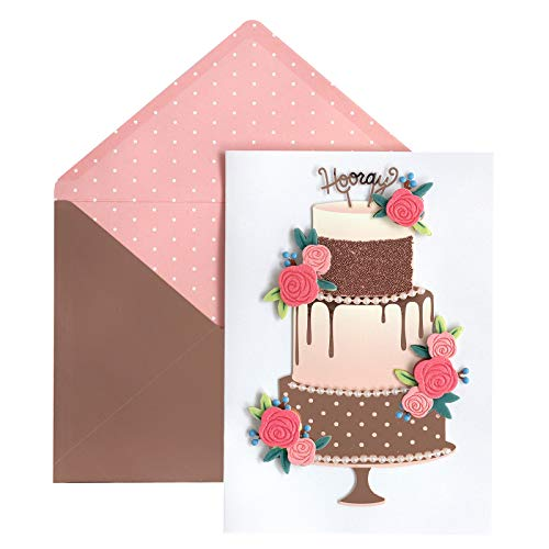 Jolee's Boutique 8600044 Wedding Cake Greeting Card, Multi