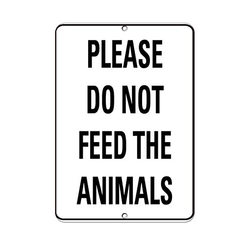 Kent Sparks Warning Tin Sign - Please Do Not Feed The Animals Activity Sign Farm Sign 12 x 8 Aluminum Metal