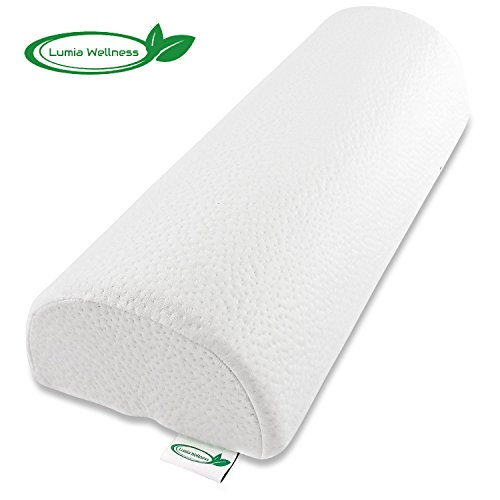 Extra Firm Half Moon Bolster Support Memory Foam Pillow (Wellness Neck)