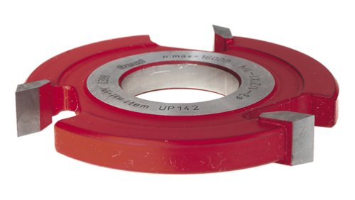 Freud UP142 3-Wing 1/2-Inch Straight Edge Shaper Cutter, 1-1/4 Bore