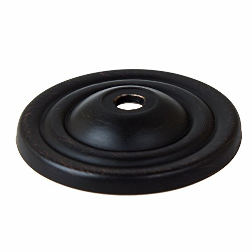 GlideRite Hardware 5061-ORB-100 Thin Rounded Ring Cabinet Back Plate, 100 Pack, 1.5'', Oil Rubbed Bronze by GlideRite Hardware (Image #1)