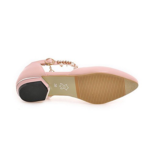 Low Urethane Flats Pink Womens Cut Uppers Buckles Charms BalaMasa Shoes Metal HRIwqxax0