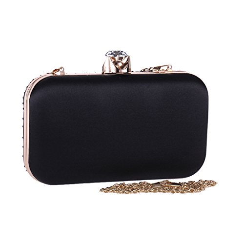 Party Robe Embrayage KERVINZHANG carré Black Sac Petit Sac Purse Box Femmes Dames de Color Sac Hard Blue Weedding soirée xwqIpP6wC