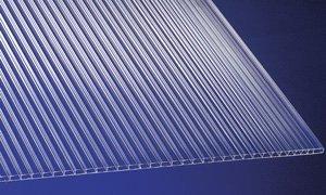 Fabulous Polycarbonat Universal Stegplatten für Gewächshäuser klar 1500 x FG85