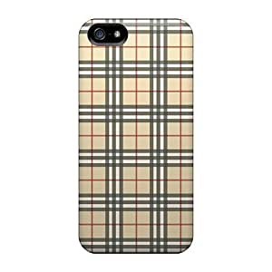 Faddish Phone Beige Tartan Check Cases Case For HTC One M8 Cover / Perfect