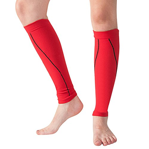 83e2640639 Bitly Calf Compression Sleeve - Leg Compression Socks for Shin Splint, & Calf  Pain Relief - Men, Women, and Runners - Calf Guard for Running, Cycling, ...