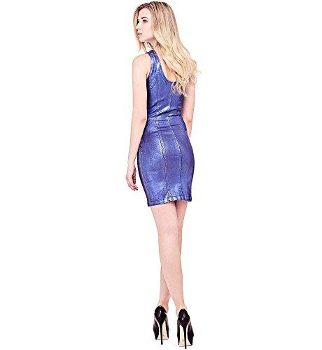 Damen Guess Kleid Kleid Guess Ultramarine VIVETTA q4Ot8O6