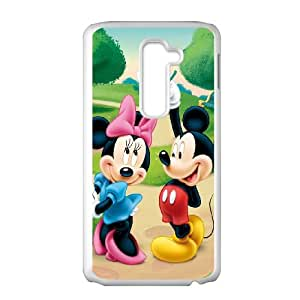 LG G2 Cell Phone Case White Micky Mouse I8262442