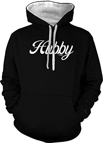Hubby Men's 2 Tone Hoodie Sweatshirt (2XL, Black/White (2 Tone Hoodie)