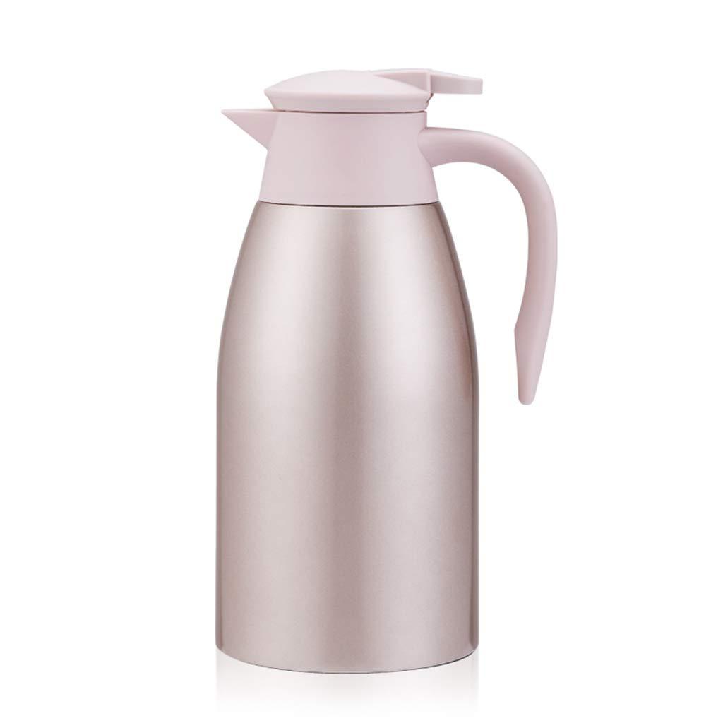 FYCZ Thermoskannen,2L Große Kapazität Aus Edelstahl Thermos Kaffeekaraffe Doppelwandig Vakuumisolierte Kaffeekanne Krug Dicht Kältefest C1