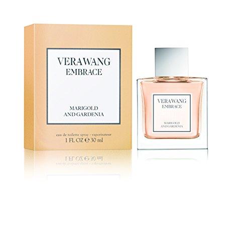 Vera Wang Embrace Eau de Toilette Marigold and Gardenia Scent 1 Fluid Oz. Women's Cologne Dreamy, Floral and Warm (Versace Gardenia Eau De Toilette)
