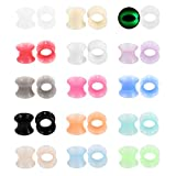Xpircn Thin Silicone Ear Plugs Tunnels Flexible Ear Earlets 15pairs