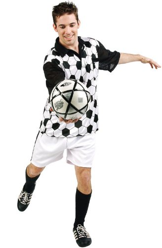 Plus Size Football Halloween Costumes (Plus Size Mr. Soccer Costume (One Size Fits Most))