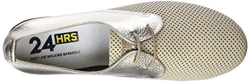 para Mujer Dorado 24 Oxford Cordones Zapatos Champan 3 de 23538 Horas S1BqwfH