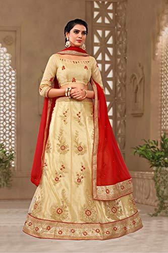 Partywear Lehenga Beige Choli Designer Women Indian Ethnic Traditional Rq86BHw