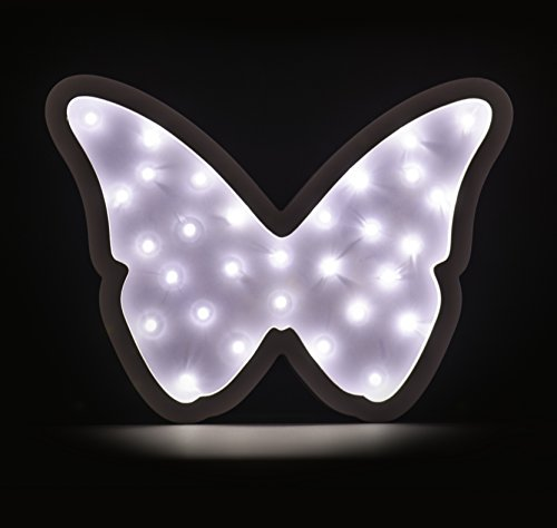 NEW! LED BUTTERFLY MARQUEE WOODEN NIGHT LIGHT WALL DECOR TABLE LAMP BY LUNA LIGHTS