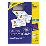 Avery - 2 Pack - Two-Side Printable Business Cards Inkjet 2 X 3-1/2 White Matte 250/Pack ''Product Category: Paper & Printable Media/Cards & Card Stock''