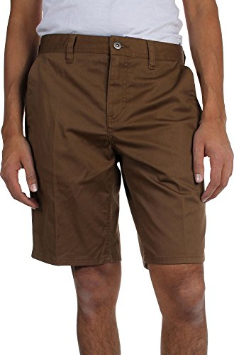 (KR3W Mens Klassic Chino Short Coffee Shorts-Walk Size)