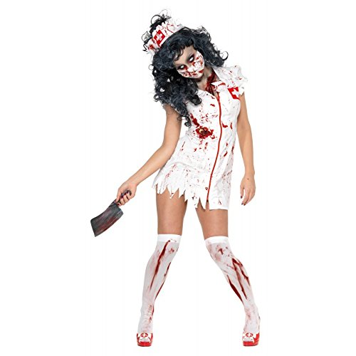 Zombie Nurse Fancy Dress Costume Ladies