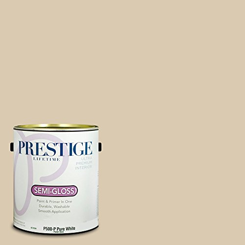 Prestige Paints Interior Paint and Primer In One, 1-Gallon, Semi-Gloss,  Comparable Match of Sherwin Williams Softer - Bedroom Paint