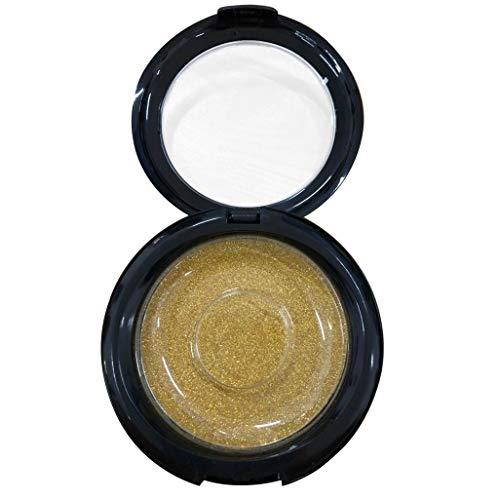 False Eyelashes Case Storage Mirror Box Eye Lashes Magnetic And Non Magnet Round False Eyelash Storage Box (Multicolor) (Gold)