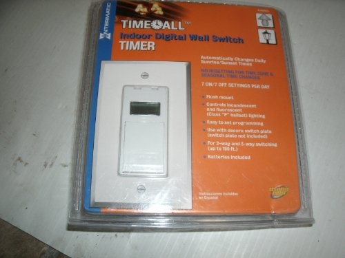 Intermatic Indoor Digital Wall Switch Timer Item# 86409 Model# EJ500CL UPC#078275092891 Intermatic Indoor Digital Wall Switch Timer