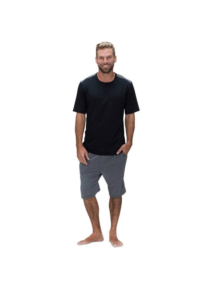 SHEEX 828 Motion Men's Short Sleeve Easy Tee, Large (Black)