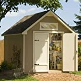 "Everton 8 ft. x 12 ft. Wood Storage Shed Solid 2"" x 4"" Wood Framing, 740 Cubic Feet of Storage, Pre-cut and Ready for Assembly"