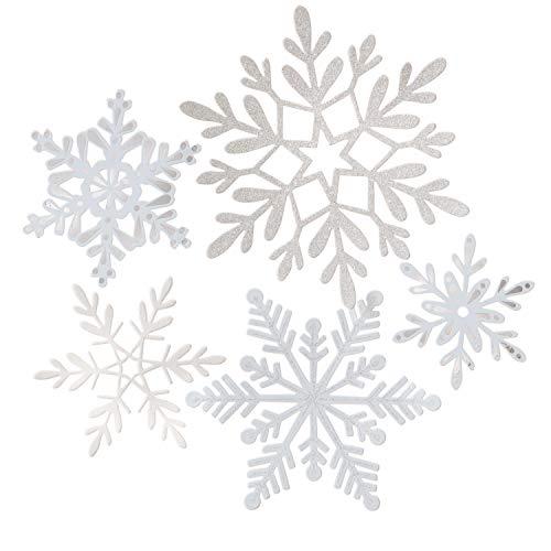 Martha Stewart 30068364 Die Cut Snowflake Garland, Multicolor (Card Snowflake)
