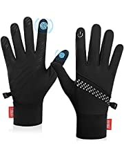 Winter Gloves for Men Women Warm Touch Screen Anti-Slip Lightweight Cold Weather Running Gloves for Cycling Driving Working