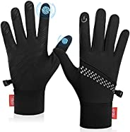 Winter Gloves for Men Women Warm Touch Screen Anti-Slip Lightweight Cold Weather Running Gloves for Cycling Dr