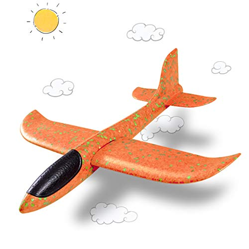 Glider Plane Large Toy for Kids,Refasy Children Family Fun Outdoor Toys Games for Kids 8-12 Year Old Girl Boy Teens Adults Best Foam Throwing Airplane Gift Ideas Gliders Flying Airplane Age 3-12 Toys