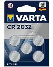 VARTA Batterien Electronics Lithium Knopfzelle 3V Batterie (5er Pack Knopfzellen in Original 5er Blisterverpackung, CR2032)
