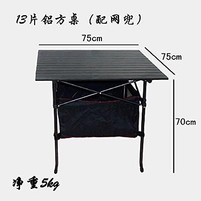 Xing Lin Table D'Extérieur Table Pliante D'Extérieur En Alliage D'Aluminium De Blocage D'Affichage Portable Ultra Léger Table Table Mahjong Beach Barbecue Picnic Table Et Chaise, Table Carrée 13*75