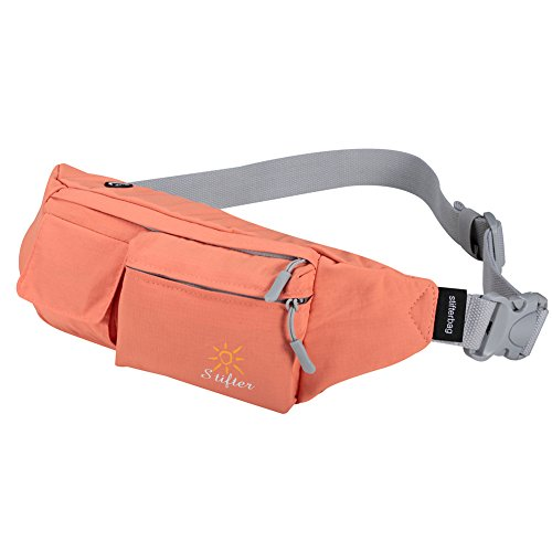Stifter Premium Cotton Fanny Pack, Waterproof Waist Bag Pack for Man Women Outdoors Travelling Climbing, 1.5L Capacity, 5 Pockets, Modern Looking, Adjustable Belt
