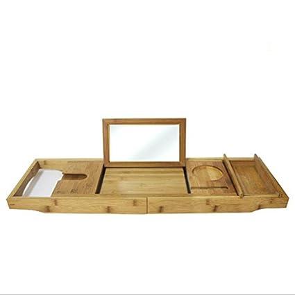 GHGJU Marco de bañera de bambú Estante Ajustable Caja de ...