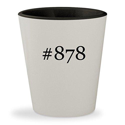 #878 - Hashtag White Outer & Black Inner Ceramic 1.5oz Shot - Raybans Instagram