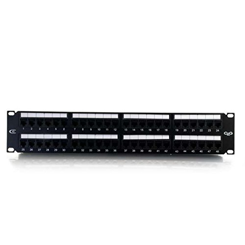 C2G/Cables to Go 37051 48-Port Cat6 110-Type Patch Panel (Patch C2g Cable Cat6)