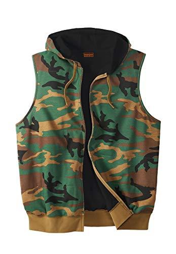 - Boulder Creek Men's Big & Tall Thermal Lined Fleece Vest, Camo Big-2Xl