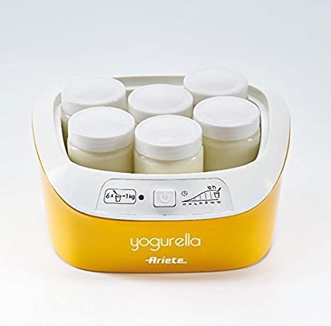 Ariete 626 626-Yogurtera Capacidad de 1 litro luz indicador Blanco y Amarillo 6 tarros 1 Liter 20 W