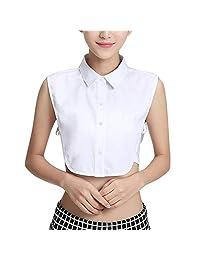 JoofEric Women's Elegant Fake Collar Detachable Dickey Blouse Half Shirts